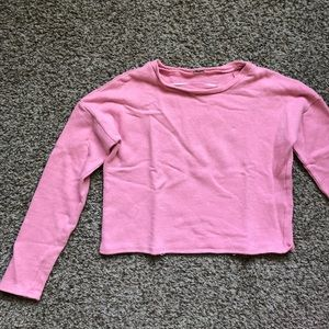 Light pink cropped sweater